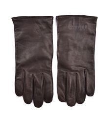 Roberto Cavalli - Brown Leather Logo Embossed Glove - Lyst