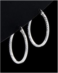 Argento Vivo - Silver Hoop Earrings - Lyst