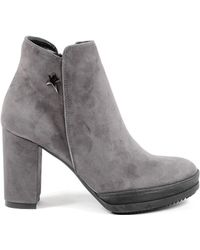 Andrew Charles by Andy Hilfiger - Andrew Charles Womens Heeled Ankle Boot Grey Sheryl - Lyst