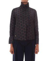 Manila Grace - Women's Brown Polyester Jacket - Lyst