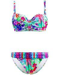 Les P'tites Bombes - 2 Pieces Multicolor Swimsuit Bandeau Push Up C Cup Savana 011 - Lyst