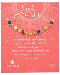 Dogeared - Seek It All 14k Over Silver Gemstone Bracelet - Lyst