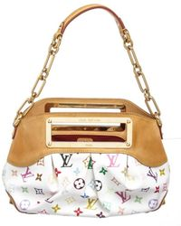Louis Vuitton - Pre Owned- White Multicolor Judy Mm Satchel Handbag - Lyst