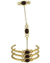 House of Harlow 1960 - 1960 14k Plated Bracelet & Hand Chain - Lyst