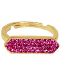 Saachi - Fuchsia Gold Plated Rings - Lyst
