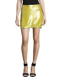 Elorie - Sequin Embellished Mini Skirt - Lyst