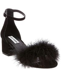 Steve Madden | Imelda Ostrich Feather Detailed Dress Sandal | Lyst