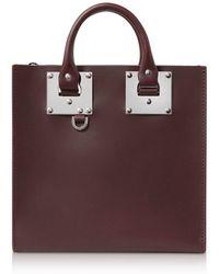 Sophie Hulme - Women's Burgundy Leather Handbag - Lyst