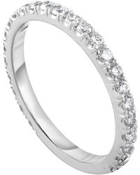 Diana M. Jewels - 18k White Gold Diamond Ring With 0.55 Carat Of Total Diamond Weight - Lyst