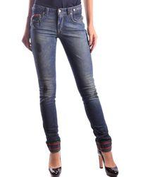 CoSTUME NATIONAL - Women's Mcbi074029o Blue Cotton Jeans - Lyst