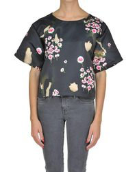 Moschino - Women's Black Polyester Blouse - Lyst