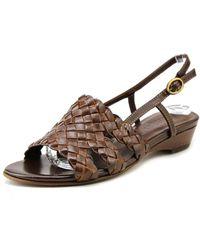 Sesto Meucci - Genisa Women W Open-toe Leather Slingback Sandal - Lyst