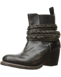 Bed Stu - Womens Lorn Leather Round Toe Ankle Chelsea Boots - Lyst
