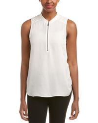 Chelsea and Walker - Zippered Silk Blouse - Lyst