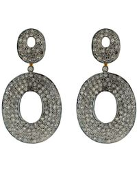 Socheec - Oval Shape Diamond Pave Earring - Lyst