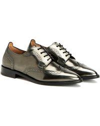Aquatalia   Gwen Waterproof Metallic Shoe   Lyst