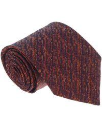 Missoni - U4509 Rust/orange Grenadine 100% Silk Tie - Lyst