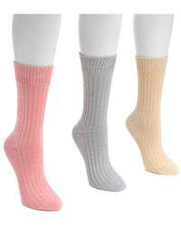 Muk Luks - Women's Waffle Boot Socks - Lyst