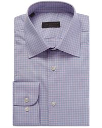Ike Behar - Pink And Blue Check Dress Shirt - Lyst