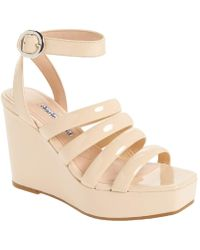 Charles David - Judy Strappy Patent High Wedge Sandals - Lyst