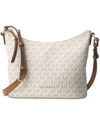 Michael Kors - Womens Lupita Signature Leather Messenger Handbag - Lyst 97695e2fb2