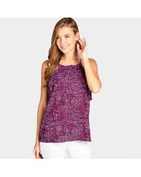 Bungalow 20 - Printed Ruffle Camisole - Lyst