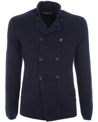 Brunello Cucinelli - Men's Blue Cotton Cardigan - Lyst