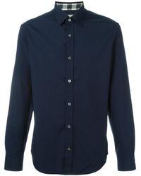 Burberry   Men's Blue Cotton Shirt   Lyst
