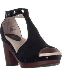 Jambu - Sheila Platform Studded T-strap Sandals, Black - Lyst