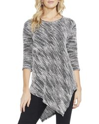 Two By Vince Camuto - Womens Asymmetrical Textured Pullover Jumper - Lyst