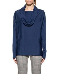 Pinko - Women's Blue Wool Sweater - Lyst