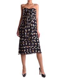 Iceberg - Women's Black Silk Dress - Lyst