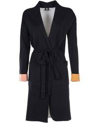 Paul Smith - Contrast Cuffs Cardi-coat - Lyst