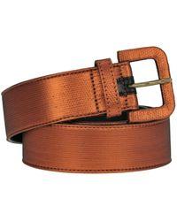 Dries Van Noten - Women's Brown Fabric Belt - Lyst