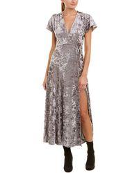 French Connection - Aurore Velvet Maxi Dress - Lyst