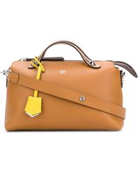 Fendi - Women's Brown Leather Handbag - Lyst