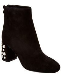Alice + Olivia - Mulberry Suede Bootie - Lyst