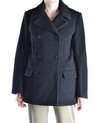 Alexander Wang - Women's Black Wool Coat - Lyst