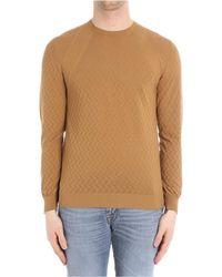 Paolo Pecora | Men's Beige Cotton Sweatshirt | Lyst