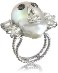 Bernard Delettrez - Women's Silver Gold Ring - Lyst
