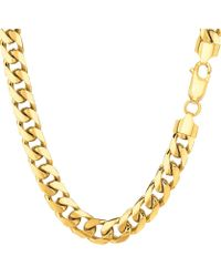 Jewelry Affairs - 14k Yellow Gold Miami Cuban Link Chain Necklace - Width 6.9mm, 30 Inch - Lyst