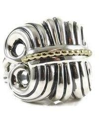 Lagos - Sterling Silver 18k Large Wheat Ring - Lyst