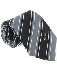 Missoni - U5270 Gray/black Repp 100% Silk Tie - Lyst