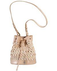 Helen Kaminski - Barbados Raffia & Leather Bucket Bag - Lyst