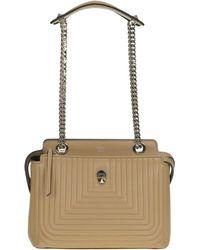 Fendi - Women's Mcglbre000004014i Beige Leather Shoulder Bag - Lyst