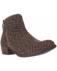 Lucky Brand - Basel Side Zip Ankle Boots - Dark Earth - Lyst