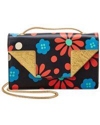 Saint Laurent - Mini Betty Floral Leather Crossbody - Lyst