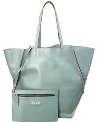 Marni - Tangram Soft Leather Shopping Tote - Lyst