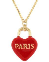 Les Nereides - From Paris With Love Paris Heart-shapped Padlock Necklace - Lyst