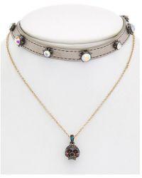 Betsey Johnson - Halloween Cz Multi-necklace - Lyst